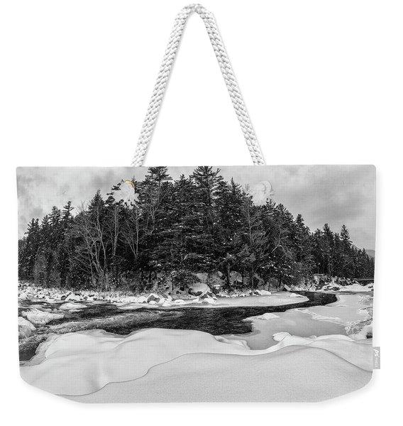 Rocky Gorge N H, River Bend 1 Weekender Tote Bag