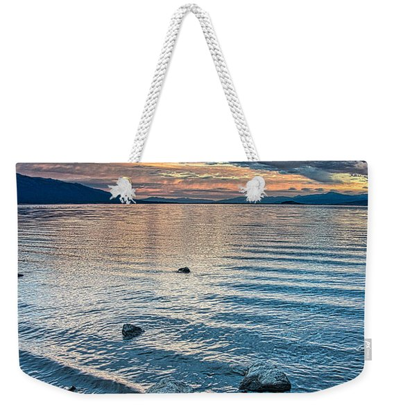 Rocky Lake Vista Weekender Tote Bag