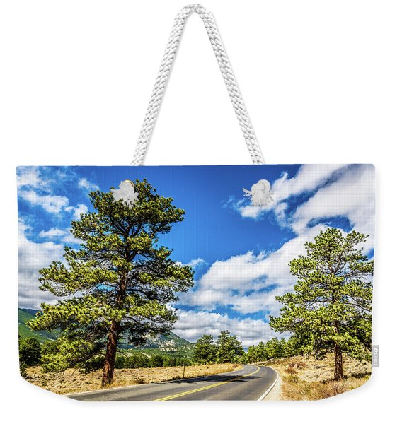 Rocky Mountain Highway Weekender Tote Bag