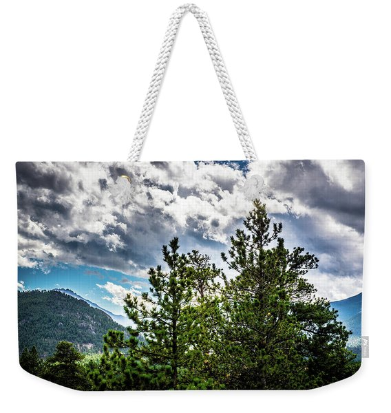 Rocky Mountain Pines Weekender Tote Bag