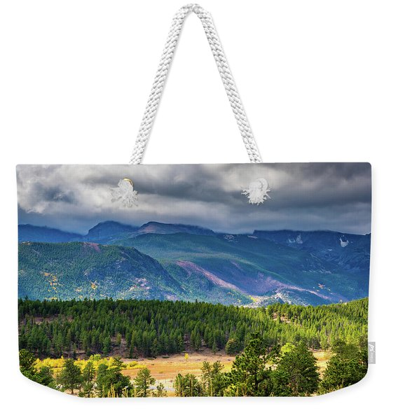 Rocky Mountains - Green Weekender Tote Bag