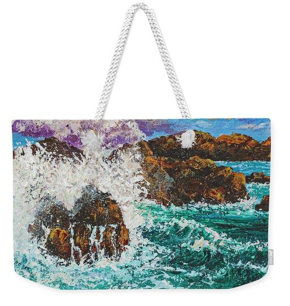 Rocky Splash Weekender Tote Bag