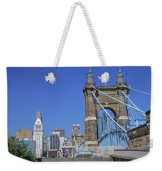 Roebling Bridge Weekender Tote Bag