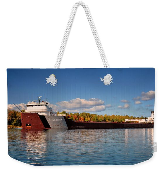 Roger Blough Fall Morning Weekender Tote Bag