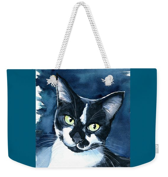 Rollie Tuxedo Cat Painting Weekender Tote Bag