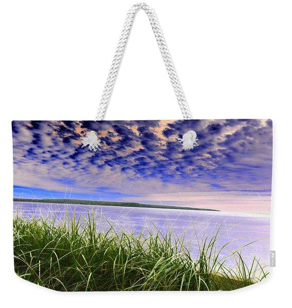 Rolling Blue Sky Over Lake Superior Weekender Tote Bag
