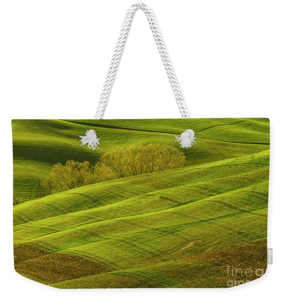 Rolling Grassy Landscape Tuscany-1 Weekender Tote Bag
