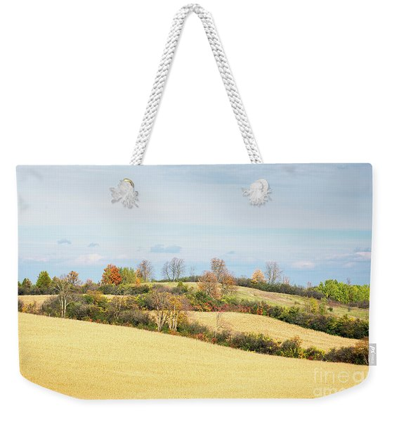 Rolling Hills In Fall Weekender Tote Bag