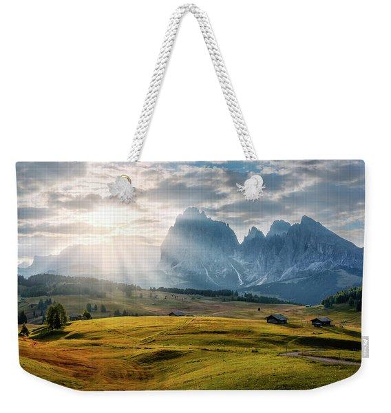 Rolling Hills Of Alpe Di Siusi Weekender Tote Bag