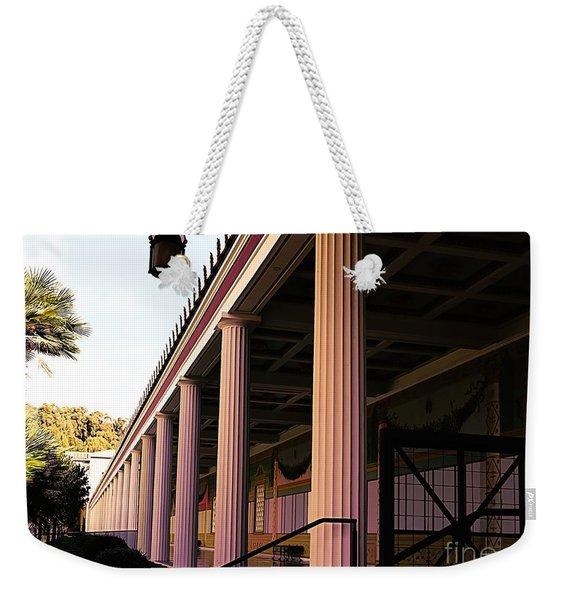 Roman Columns Getty Villa  Weekender Tote Bag