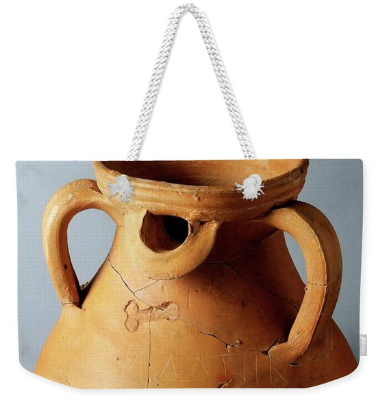 Roman  Vessel Phallic Decoration Weekender Tote Bag