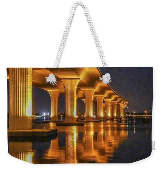 Weekender Tote Bag featuring the photograph Roosevelt Bridge Portrait by Tom Claud