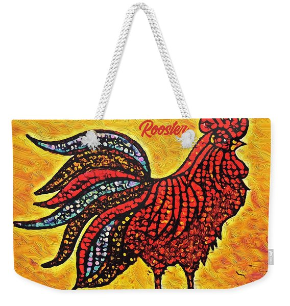 Rooster In The Moring Weekender Tote Bag