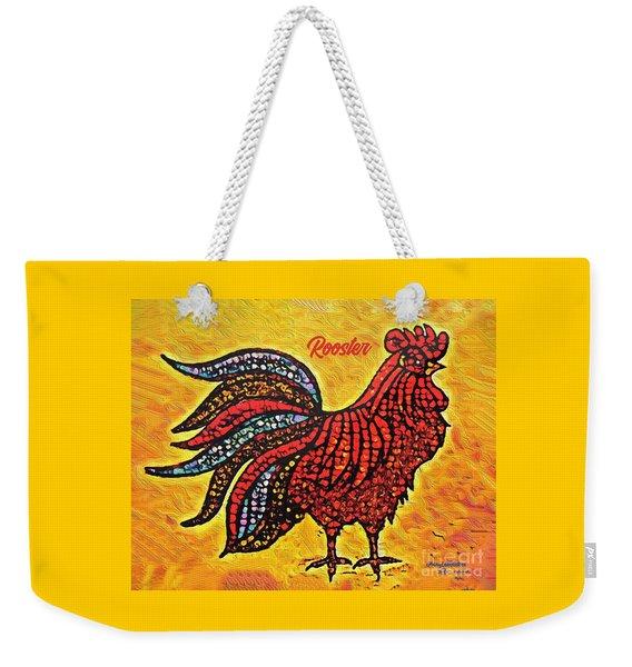 Rooster In The Moring Weekender Tote Bag