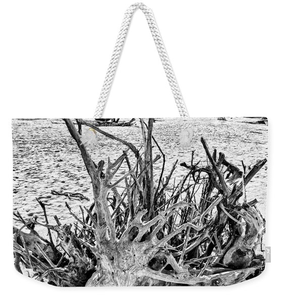 Rooted In Black And White Weekender Tote Bag