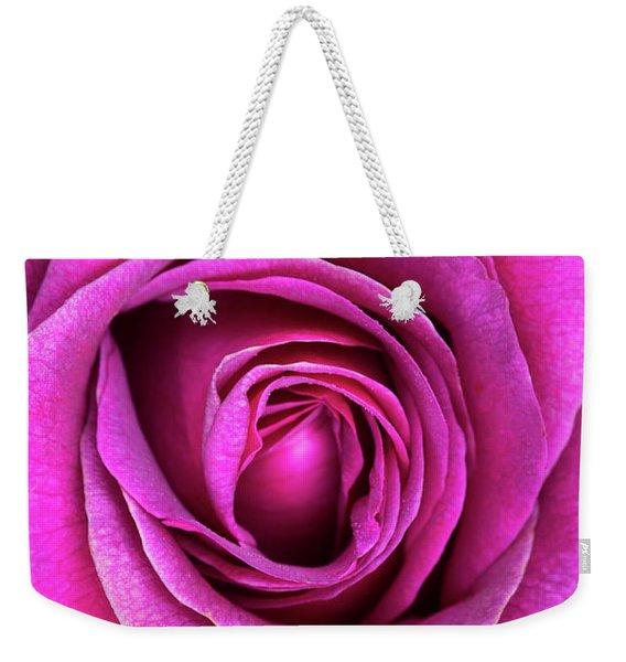 Rosa Big Purple Flower Weekender Tote Bag