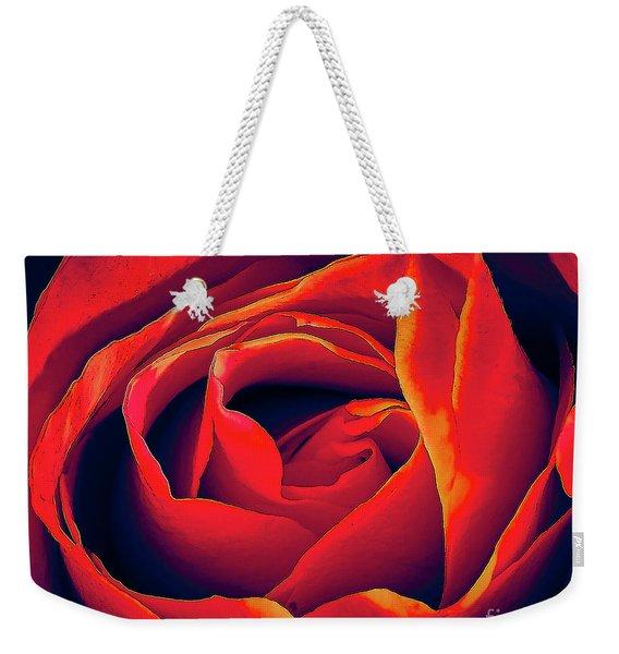 Rose Ablaze Weekender Tote Bag