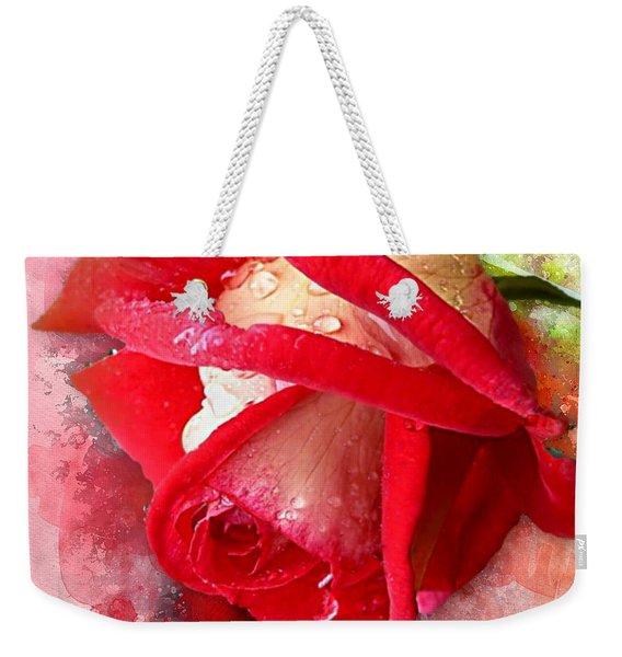 Rose And Water Drops Weekender Tote Bag
