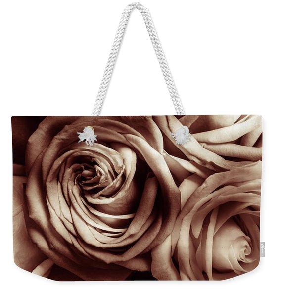 Rose Carmine Weekender Tote Bag