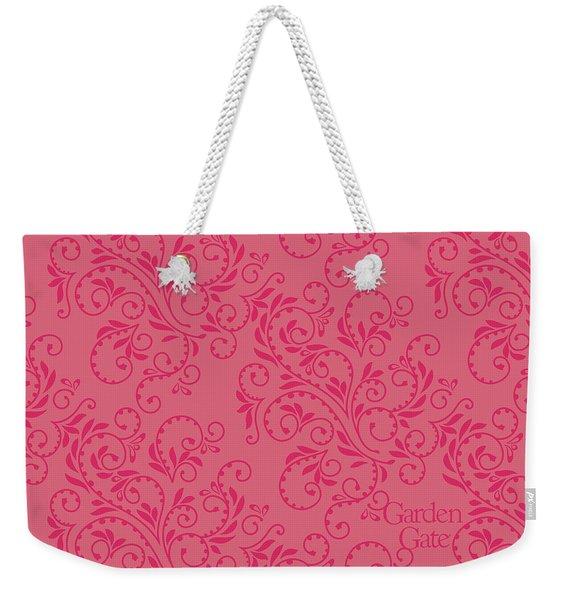 Rose Colored Fern Pattern Weekender Tote Bag