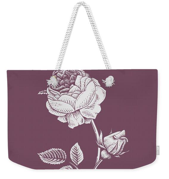 Rose Purple Flower Weekender Tote Bag