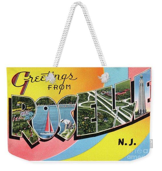 Roselle Greetings Weekender Tote Bag