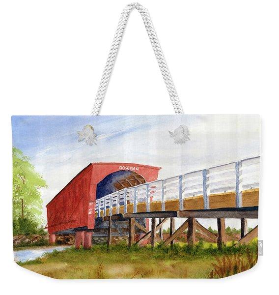 Weekender Tote Bag featuring the painting Roseman Bridge by Rich Stedman