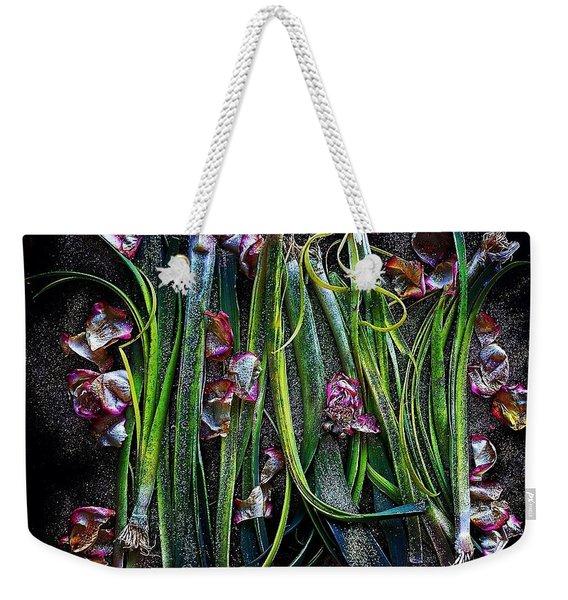 Rosy Leeks Weekender Tote Bag