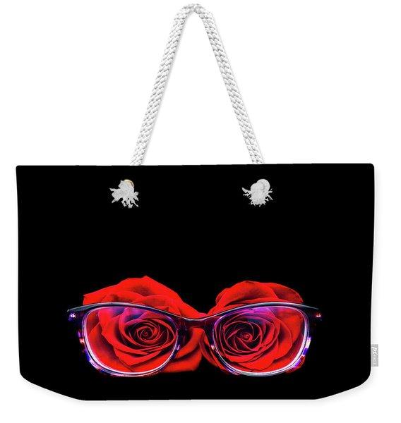 Rosy Vision Weekender Tote Bag