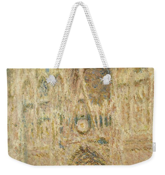 Rouen Cathedral In The Evening, 1894 Weekender Tote Bag