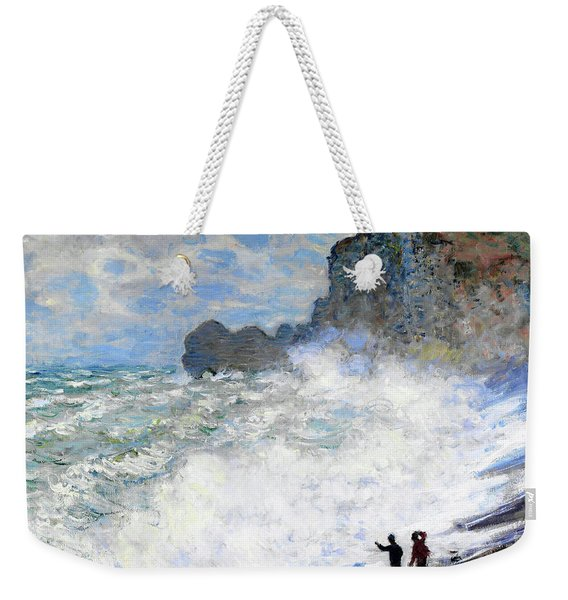 Rough Weather At Etretat - Digital Remastered Edition Weekender Tote Bag