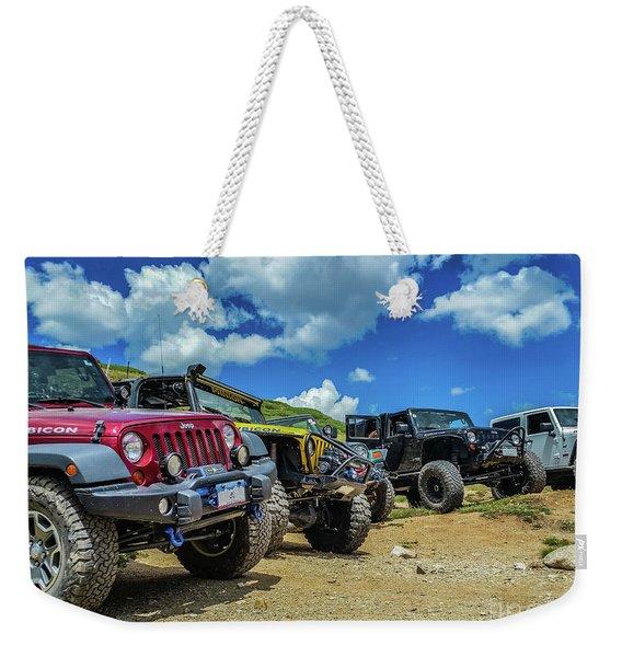 Row Of Jeeps Weekender Tote Bag