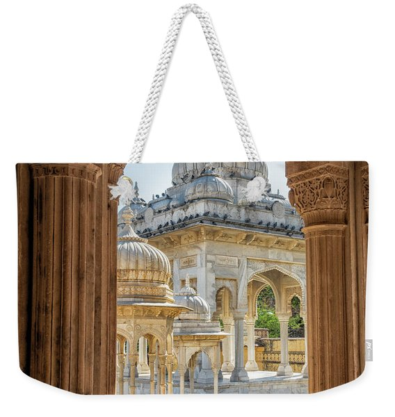 Weekender Tote Bag featuring the photograph Royal Cenotaphs by Robin Zygelman