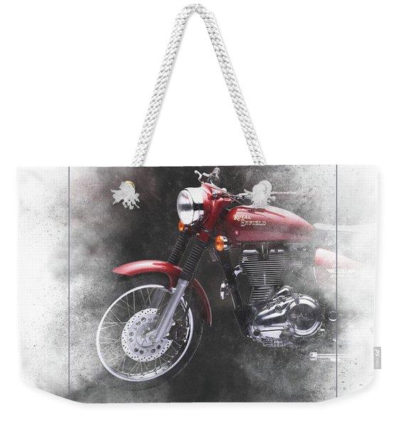 Royal Enfield Bullet Electra Efi Painting Weekender Tote Bag