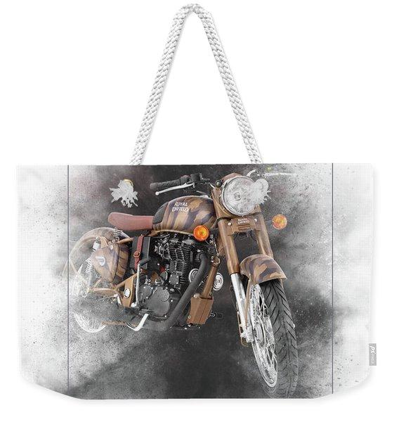 Royal Enfield Classic 500 Painting Weekender Tote Bag