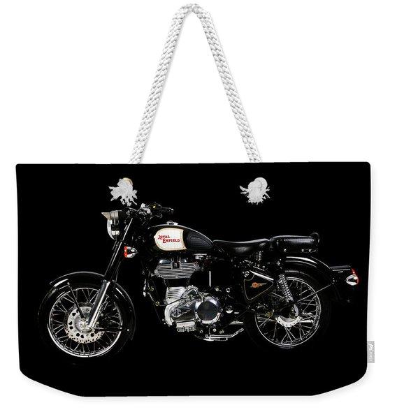 Royal Enfield Classic Black Weekender Tote Bag