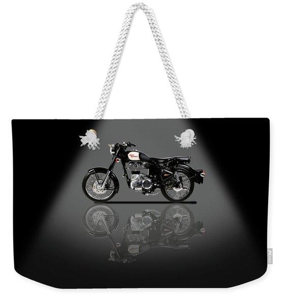Royal Enfield Classic Black Spotlight Weekender Tote Bag