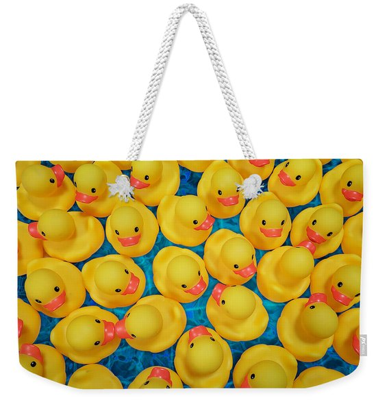 Rubber Duck Meet And Greet Weekender Tote Bag