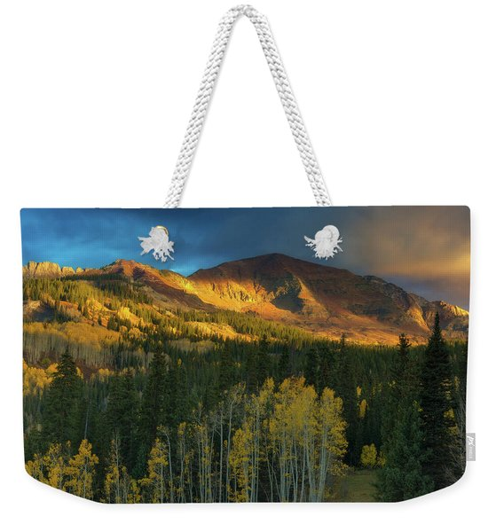 Weekender Tote Bag featuring the photograph Ruby Range Sunrise by John De Bord
