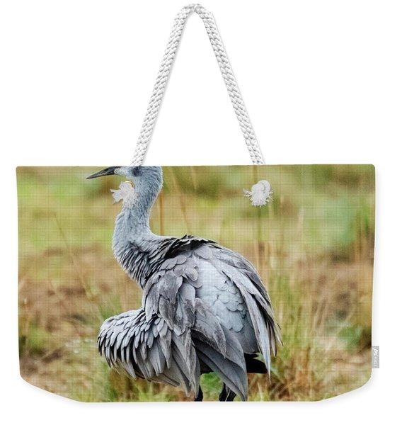 Ruffled Crane Weekender Tote Bag