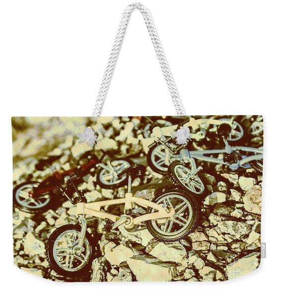 Rugged Biking Weekender Tote Bag
