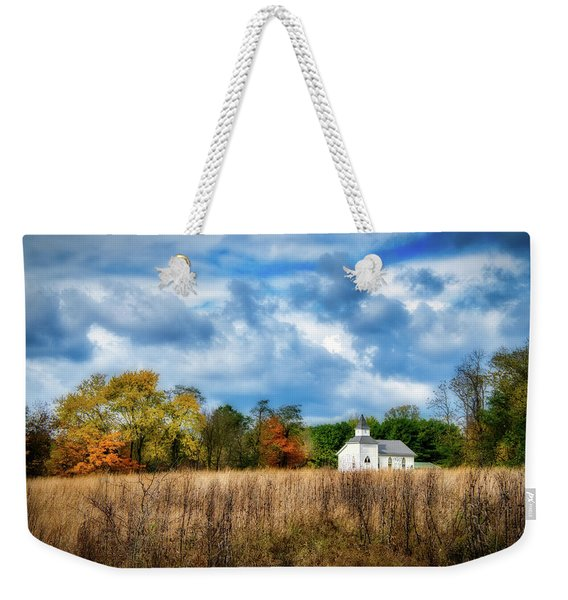 Rural Church Weekender Tote Bag