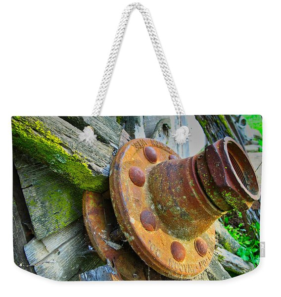 Rusted Hub Weekender Tote Bag