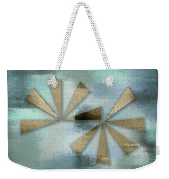 Rusted Triangles On Blue Grey Backdrop Weekender Tote Bag