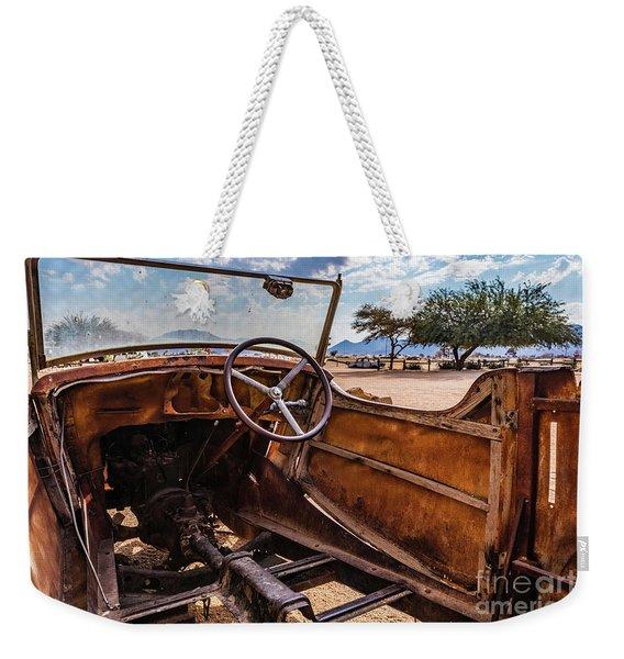 Rusty Car Leftovers Weekender Tote Bag