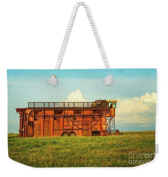 Rusty Cotton Baler  Weekender Tote Bag