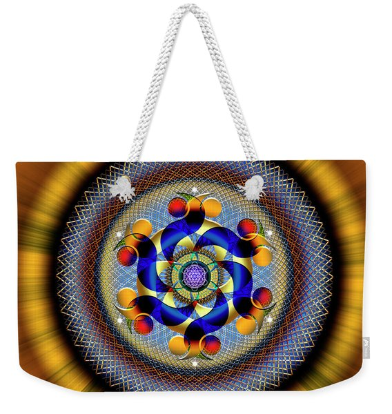 Sacred Geometry 740 Number 1 Weekender Tote Bag