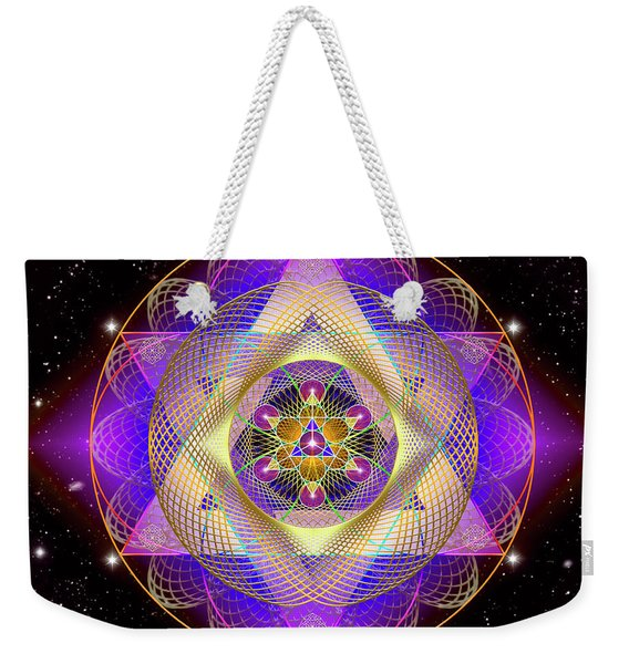 Sacred Geometry 741 Weekender Tote Bag