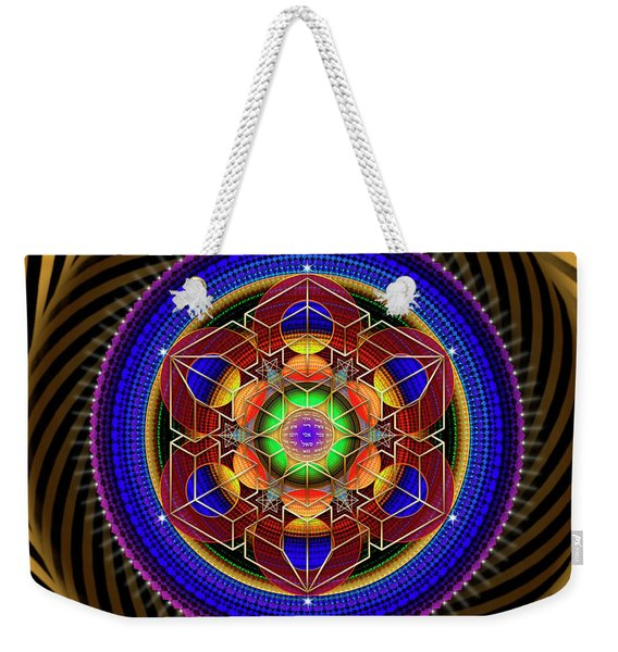 Sacred Geometry 763 Weekender Tote Bag