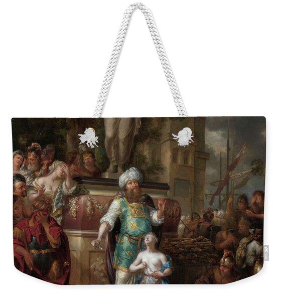 Sacrifice Of Iphigenia, 1700 Weekender Tote Bag